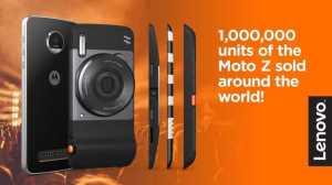 Lenovo celebrates 1 million Motorola Moto Z units sold globally
